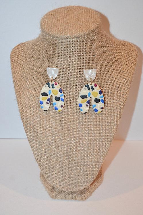 Clay Bake Earrings - Abstract