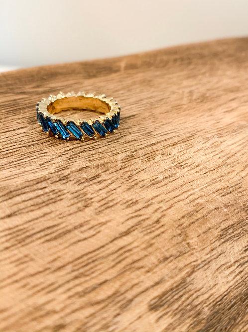 Rhinestone Ring - Blue