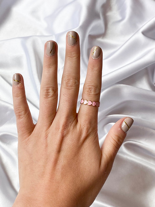 Small Pink Heart Ring