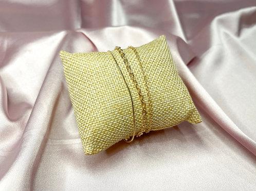 Thin Chain Bracelet Set