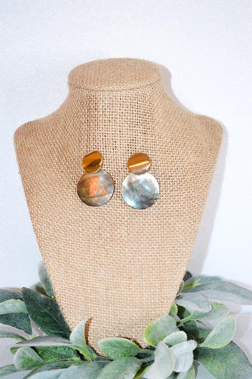 Opal Circle Studs