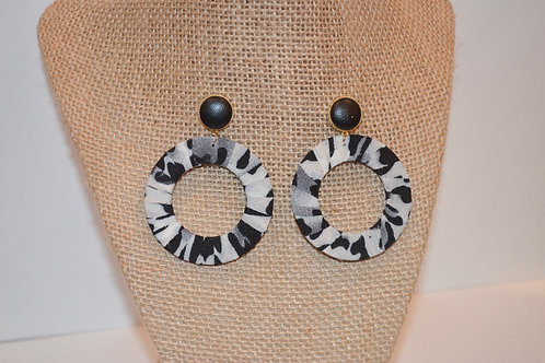 Black Abstract Studs
