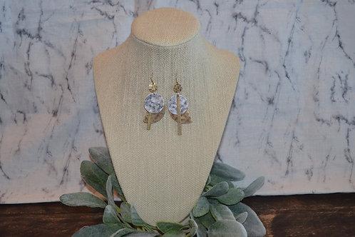 Double Metal Geometric Earrings