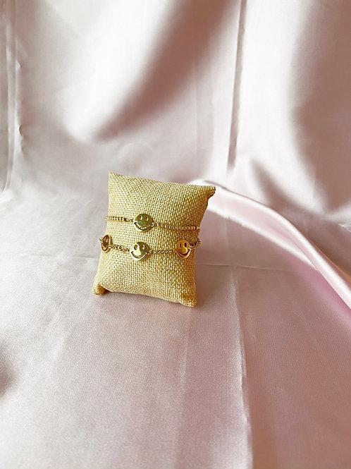 Gold Smiley Bracelets