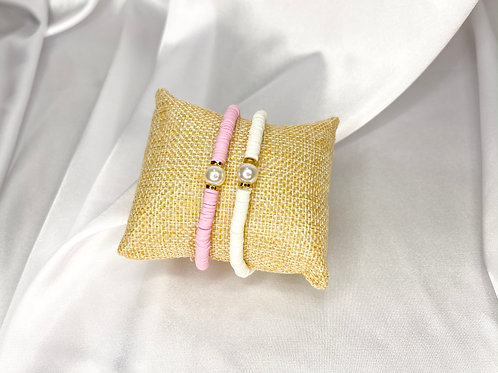 Heishi Pearl Bracelet