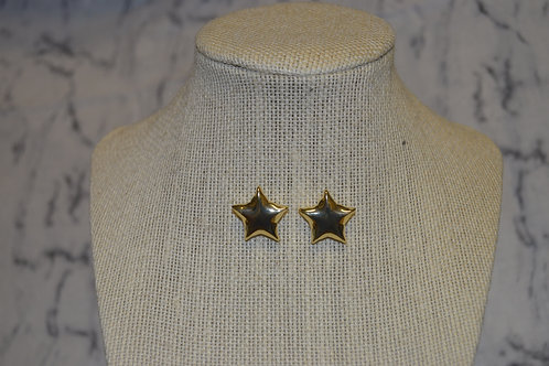 Large Star Studs - Gold