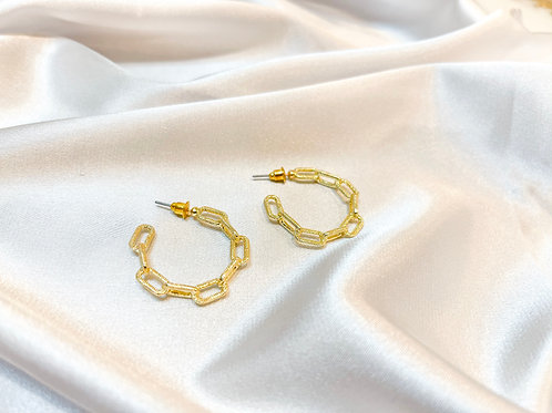 Textured Chain Link Hoops
