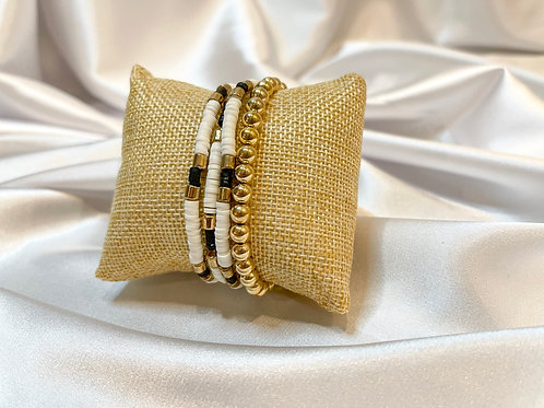 Neutral Beaded Bracelet Set