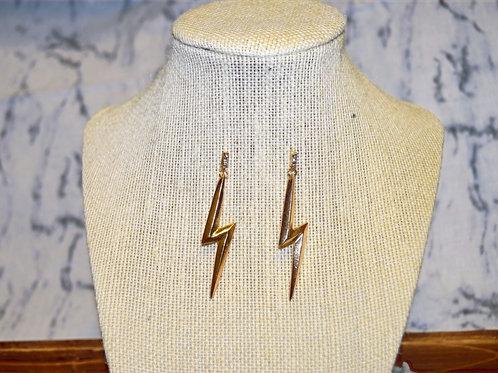 Rhinestone Lightning Bolt Earrings