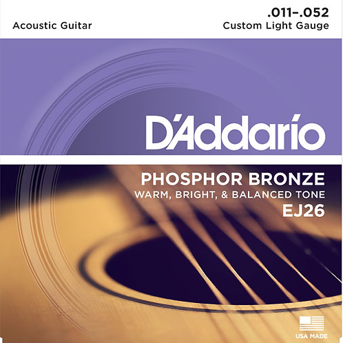 D'addario Acoustic Guitar Strings EJ26