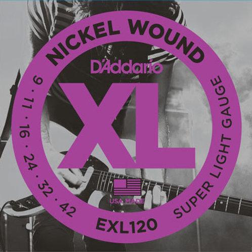 D'addario XL Electric Guitar Strings EXL120