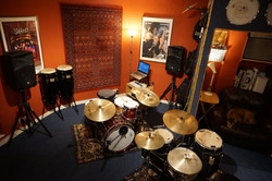 Our drum tuition room