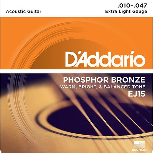D'addario Acoustic Guitar Strings EJ15