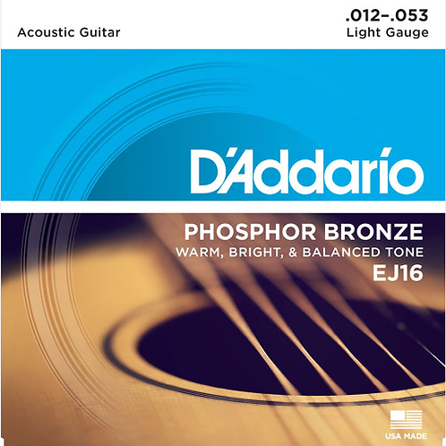 D'addario Acoustic Guitar Strings EJ16