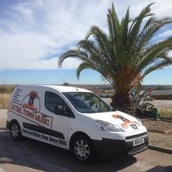 The STM van in Spain