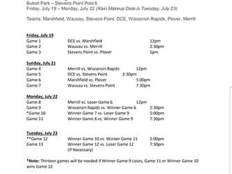 2019 AAA Region 2 Schedule Update
