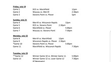 2019 AAA Region 2 Monday Schedule