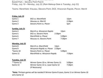 2019 AAA Region 2 Monday Schedule