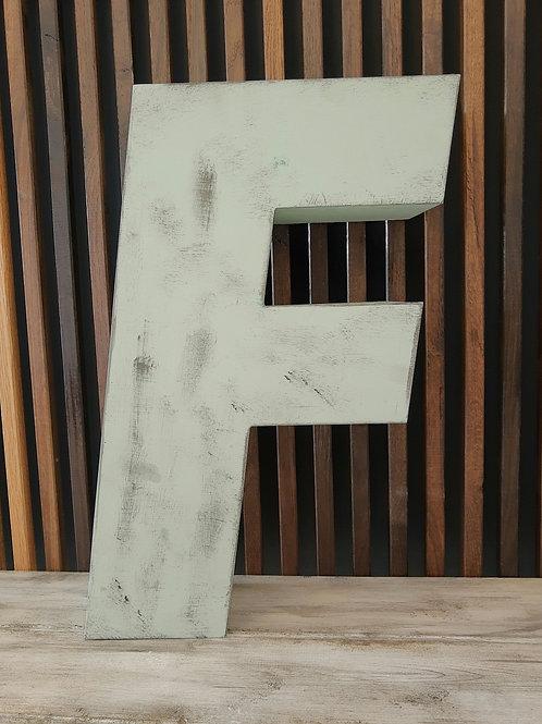 Patineret facadebogstav - Bogstav F