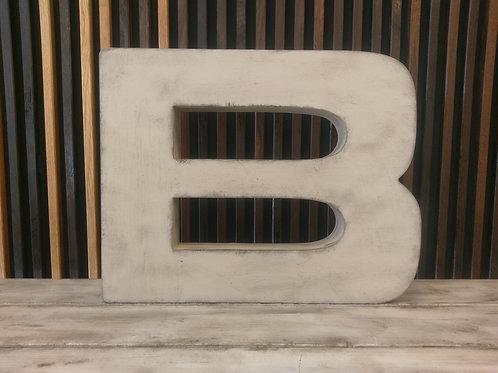 Patineret facadebogstav - Bogstav B