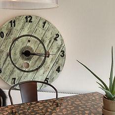 rustikt ur kabeltromle-ur designer stort vægur