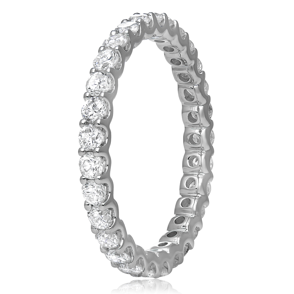a8eda427db ... round diamonds available in 18k white, yellow and rose gold. Diamond  Eternity