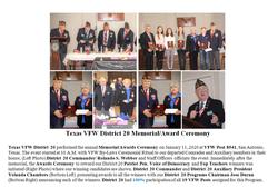 2020 Texas VFW District 20 Memorial and