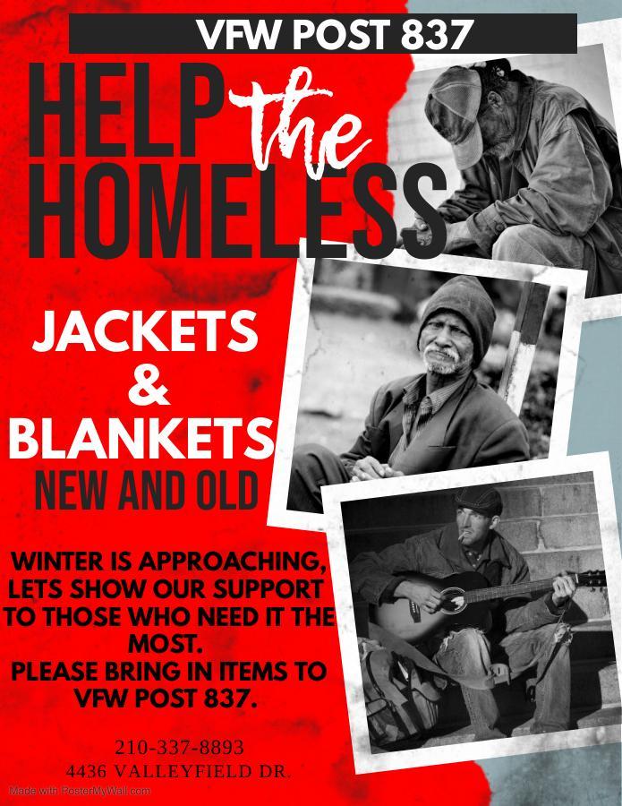 VFW Post 837 Help the Homeless