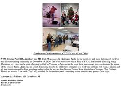 VFW Post 7108 and MG Unit 30 Christmas C