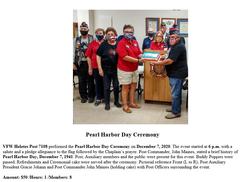 VFW Post 7108 Pearl Harbor Day Ceremony
