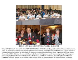 Texas VFW 2020 Mi-Winter Awards Banquet.