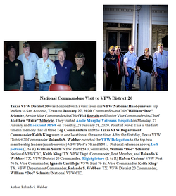 VFW National Commander Visit to VFW Dist