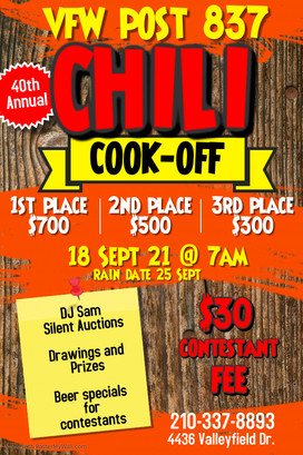 VFW Post 837 Chili Cook-Off Contest Poster for 18 Sept 2021.jpg