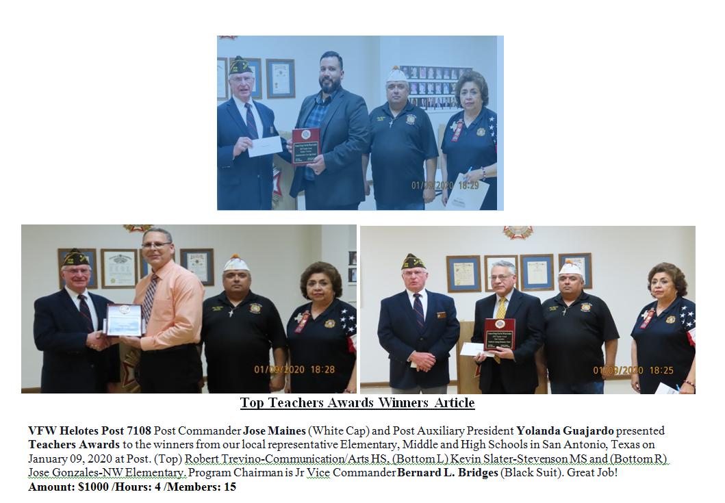 Top Teachers Awards Winners  7108