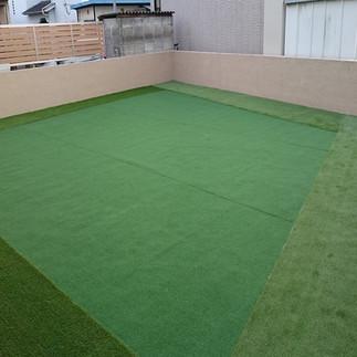 人工芝の設置