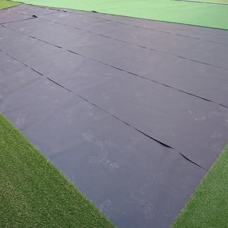 人工芝用防水加工