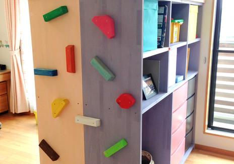 子供部屋の間仕切り&収納棚