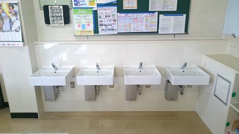 非接触手洗い場の設置