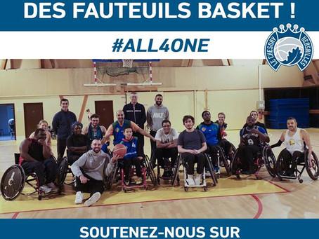 L'opération de financement participatif des fauteuils sport de notre section Handi Basket prolongée
