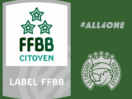 L'Entente décroche la 3ème étoile du label FFBB Citoyen !