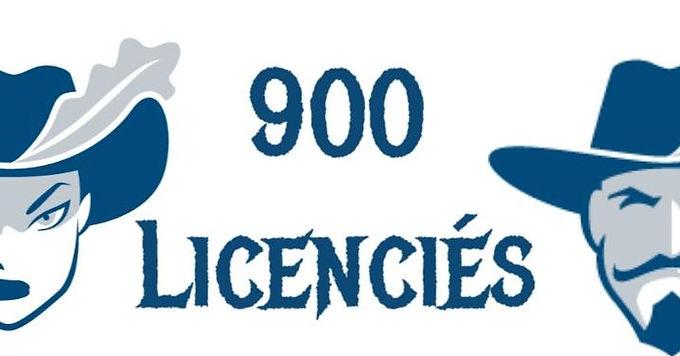 Le cap des 900 licenciés dépassé début Février 2021 !