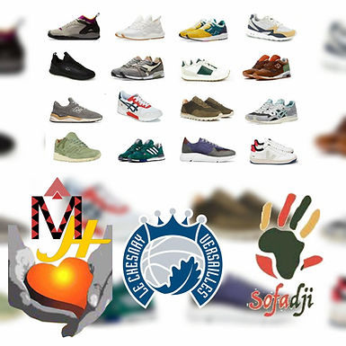 A vos chaussures de sport pour MAFONGO HUMANITY au Cameroun et SOFADJI au Sénégal !