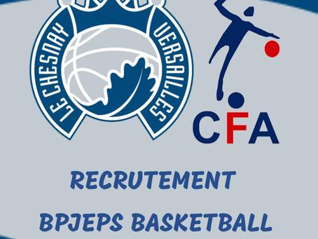 Nous recherchons 2 apprentis en BP JEPS Basket Ball !