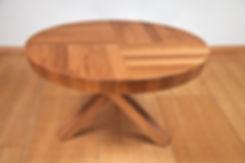 שולחן אוכל עגול נפתח