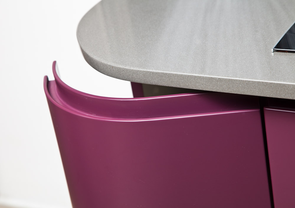 purple-kitchen-round door