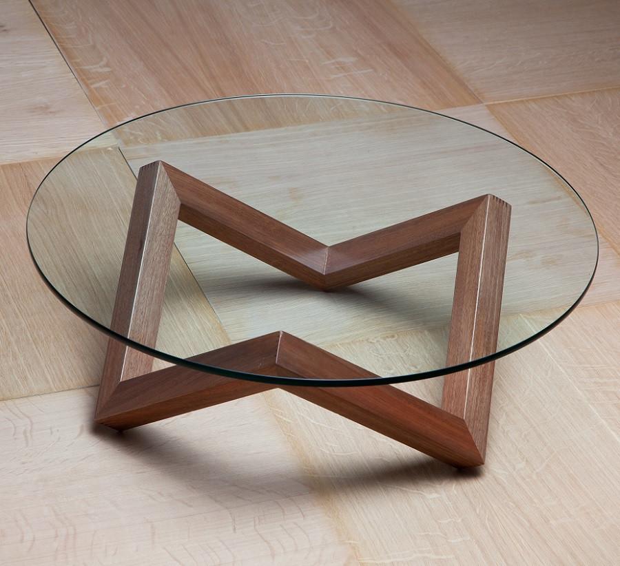 שולחן סלון זכוכית