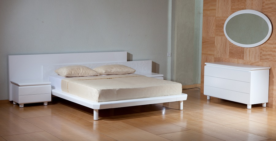 הוד - חדר שינה לבן מעוצב מודרני