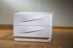 חדר שינה לבן מודרני מיוחד מעוצב