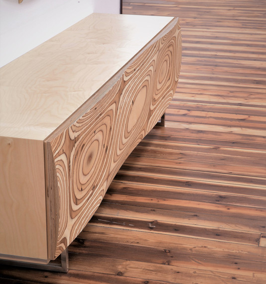 ליבנה - מזנון לסלון בעיצוב פרמטרי