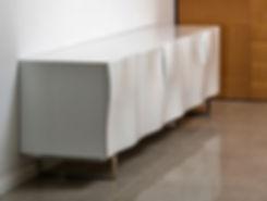מזנון מעוצב לסלון - מזנון לבן